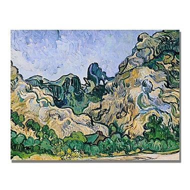 Trademark Fine Art Vincent Van Gogh 'The Alpilles 1889' Canvas Art 24x32 Inches