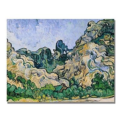 Trademark Fine Art Vincent Van Gogh 'The Alpilles 1889' Canvas Art 24x32 Inches