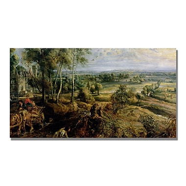 Trademark Fine Art Peter Rubens 'An Autumn Landscape III' Canvas Art 12x24 Inches