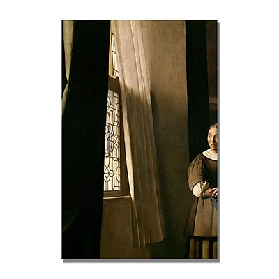 Trademark Fine Art Jan Vermeer 'Lady Writing a letter' Canvas Art 16x24 Inches