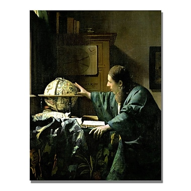 Trademark Fine Art Jan Vermeer 'The Astronomer' Canvas Art