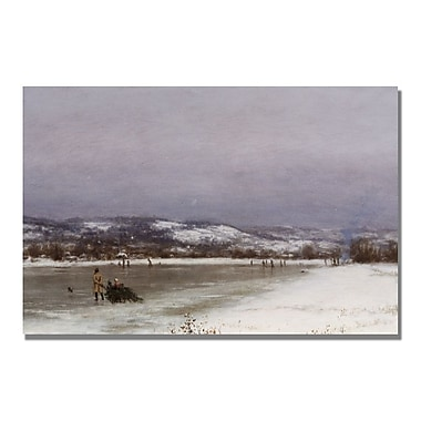 Trademark Fine Art Jervis McEntee 'Gathering Christmas Finery' Canvas Art 16x24 Inches