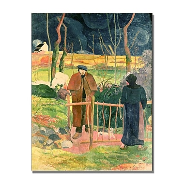 Trademark Fine Art Paul Gauguin 'Bonjour Monsieur Gauguin' Canvas Art 35x47 Inches