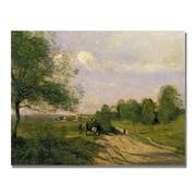 Trademark Fine Art Jean Baptiste Corot 'The Wagon Souvenir of Saintry' Canvas