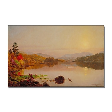 Trademark Fine Art Jasper Cropsey 'Lake Wawayanda' Canvas Art 14x24 Inches