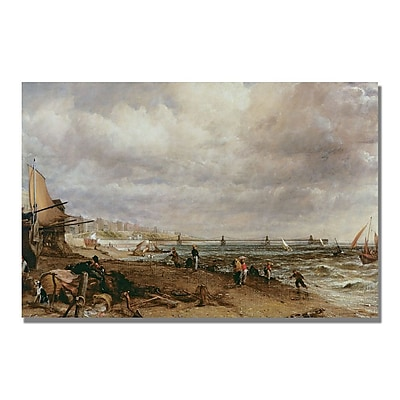 Trademark Fine Art John Constable 'Marine Parade and Old Chain Pier' Canvas Art 22x32 Inches