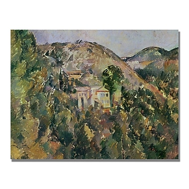 Trademark Fine Art Paul Cezanne 'View of the Domain Saint Joseph' Canvas Art 18x24 Inches