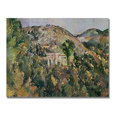 Trademark Fine Art Paul Cezanne 'View of the Domain Saint Joseph' Canvas Art 35x47 Inches