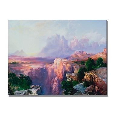 Trademark Fine Art Thomas Moran 'Rock Tower of the Rio Virgin' Canvas Art 22x32 Inches