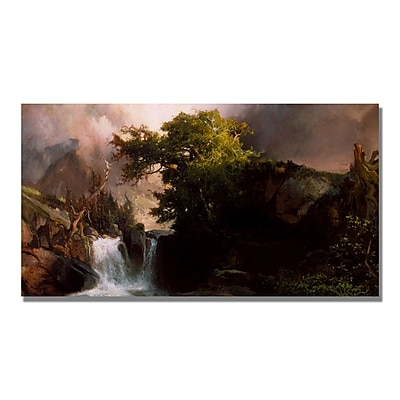 Trademark Fine Art Thomas Moran 'A Mountain Stream' Canvas Art 12x24 Inches