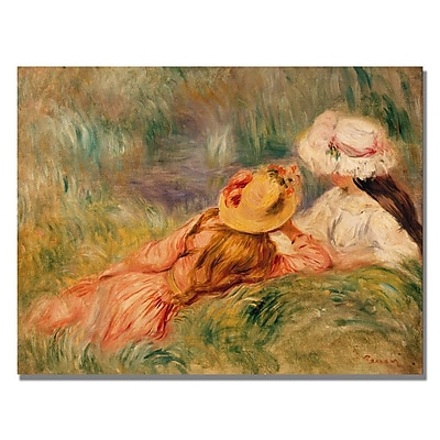 Trademark Fine Art Pierre Renoir 'Young Girls by the Water' Canvas Art 35x47 Inches