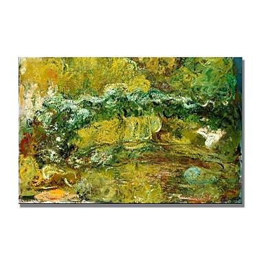 Trademark Fine Art Claude Monet 'The Japanese Bridge c.1918-24' Canvas Art