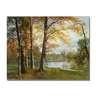 Trademark Fine Art Albert Biersdant 'A Quiet Lake' Canvas Art