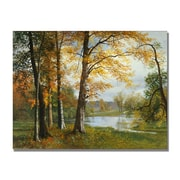 Trademark Fine Art Albert Biersdant 'A Quiet Lake' Canvas Art