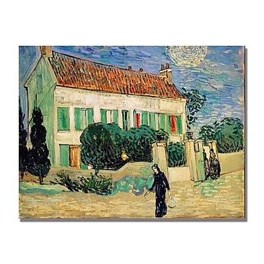 Trademark Fine Art Vincent Van Gogh 'White House at Night' Canvas Art