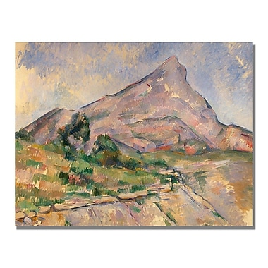Trademark Fine Art Paul Cezanne 'Montagne Sainte-Victoire IV' Canvas Art 35x47 Inches
