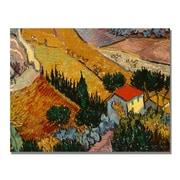 Trademark Fine Art Vincent Van Gogh 'Landscape with House' Canvas Art