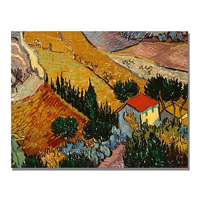 Trademark Fine Art Vincent Van Gogh 'Landscape with House' Canvas Art