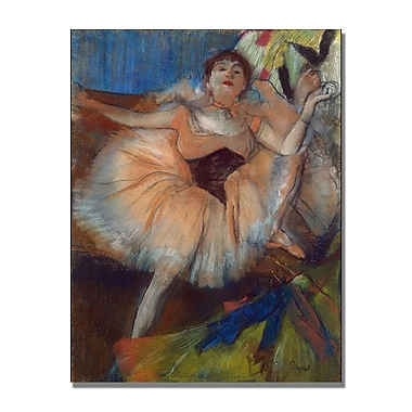 Trademark Fine Art Edgar Degas 'Seated Dancer 1879' Canvas Art