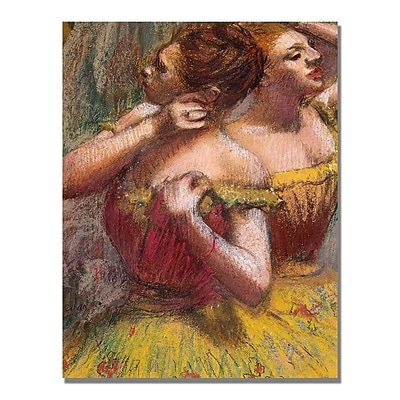 Trademark Fine Art Edgar Degas 'Two Dancers' Canvas Art