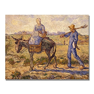 Trademark Fine Art Vincent Van Gogh 'Morning Going out to Work' Canvas Art