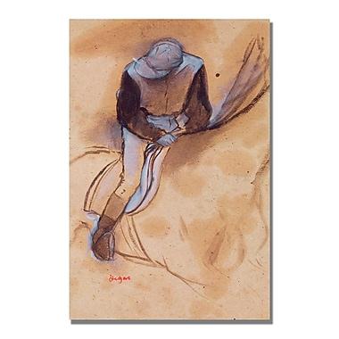Trademark Fine Art Edgar Degas 'Jockey Flexed Forward in Saddle' Canvas Art