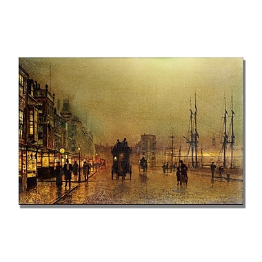 Trademark Fine Art John Grimshaw 'Glasgow' Canvas Art 30x47 Inches