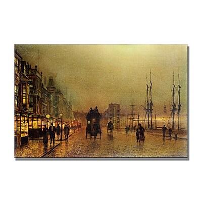 Trademark Fine Art John Grimshaw 'Glasgow' Canvas Art 30x47 Inches