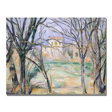 Trademark Fine Art Paul Cezanne 'Trees and Houses' Canvas Art 18x24 Inches