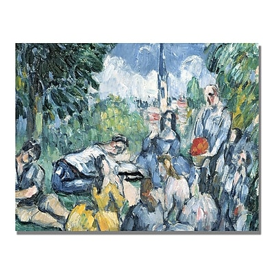 Trademark Fine Art Paul Cezanne 'Dejeuner sur l'herbe' Canvas Art 24x32 Inches