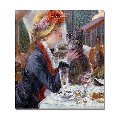 Trademark Fine Art Pierre Renoir 'The Luncheon of the Boating Party' Canvas Art 14x14 Inches