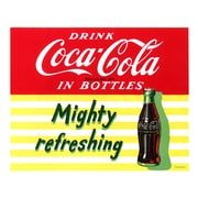 "Trademark Coke Vintage Ad ""Mighty Refreshing"" Gallery-Wrapped Canvas Art, 18"" x 22"""