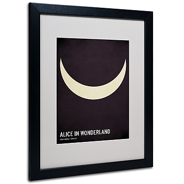 Trademark Fine Art Christian Jackson 'Alice in Wonderland' Matted Art Black Frame 16x20 Inches