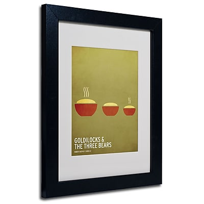 Trademark Fine Art Christian Jackson 'Goldilocks' Matted Art Black Frame 11x14 Inches