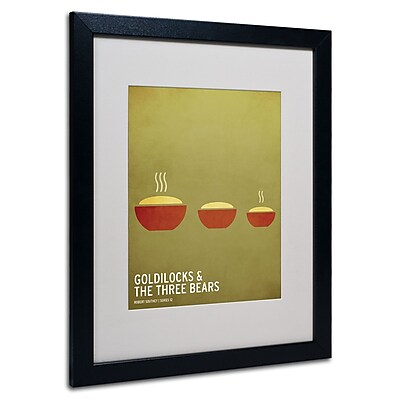 Trademark Fine Art Christian Jackson 'Goldilocks' Matted Art Black Frame 16x20 Inches