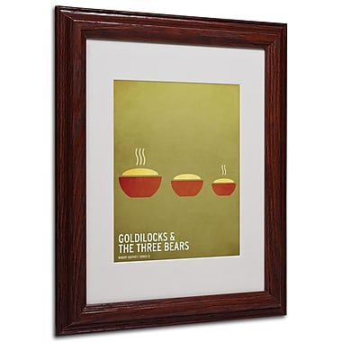 Christian Jackson 'Goldilocks' Matted Framed Art - 11x14 Inches - Wood Frame