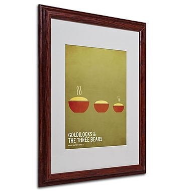 Christian Jackson 'Goldilocks' Matted Framed Art - 16x20 Inches - Wood Frame