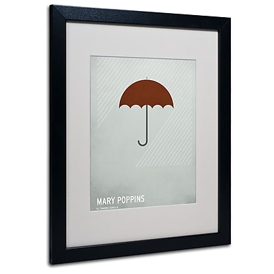 Trademark Fine Art Christian Jackson 'Marry Poppins' Matted Art Black Frame 16x20 Inches