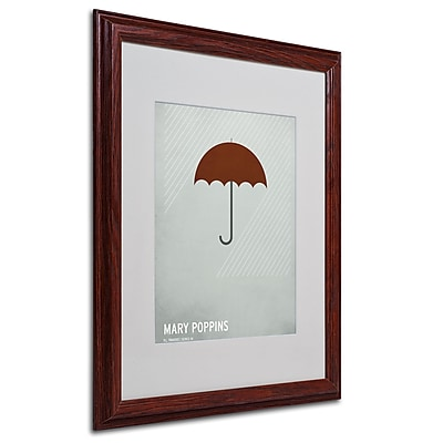 Christian Jackson 'Marry Poppins' Matted Framed Art - 16x20 Inches - Wood Frame