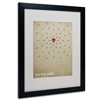 Trademark Fine Art Christian Jackson 'The Pied Piper' Matted Art Black Frame 16x20 Inches