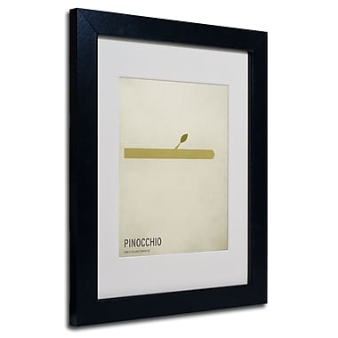 Trademark Fine Art Christian Jackson 'Pinocchio' Matted Art Black Frame 11x14 Inches