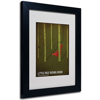 Trademark Fine Art Christian Jackson 'Red Riding Hood' Matted Art Black Frame 11x14 Inches