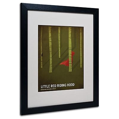 Trademark Fine Art Christian Jackson 'Red Riding Hood' Matted Art Black Frame 16x20 Inches