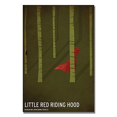 Trademark Fine Art Christian Jackson 'Red Riding Hood' Canvas Art 24x36 Inches