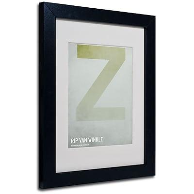 Trademark Fine Art Christian Jackson 'Rip Van Winkle' Matted Art Black Frame 11x14 Inches