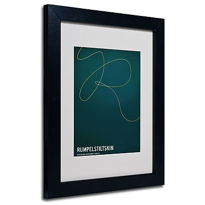 Trademark Fine Art Christian Jackson 'Rumpelstiltskin' Matted Art Black Frame 11x14 Inches