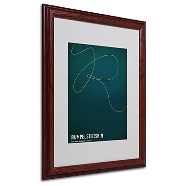 Christian Jackson 'Rumpelstiltskin' Matted Framed Art - 16x20 Inches - Wood Frame
