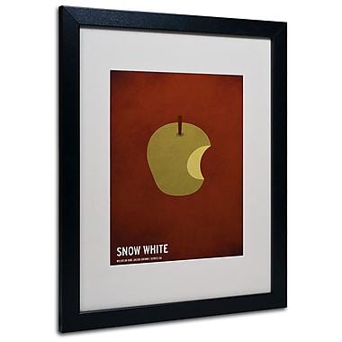 Trademark Fine Art Christian Jackson 'Snow White' Matted Art Black Frame 16x20 Inches