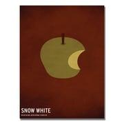 """Trademark Fine Art 'Snow White' 16"""" x 24"""" Canvas Art"""