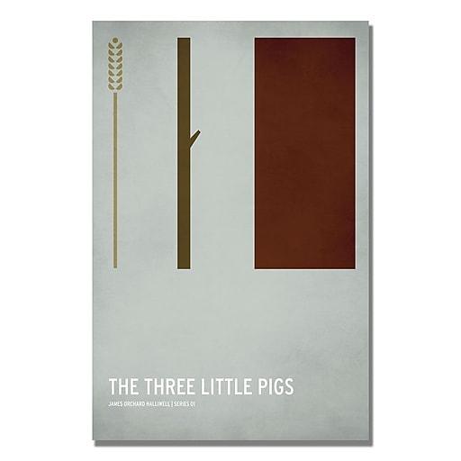 Trademark Fine Art Christian Jackson 'Three Little Pigs' Canvas Art 22x32 Inches